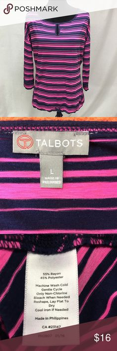 Talbots Nice striped Top in very good condition. Talbots Tops