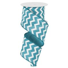 x 10 yds small chevron ribbon moss green and ivory with wired edge. This is great for an addition to any wreath, swag, garland, and many other c Chevron Ribbon, Craft Sites, Wreath Supplies, Party Supplies, Craft Supplies, Sewing Machine Reviews, Whimsical Christmas, Printed Ribbon, Floral Supplies