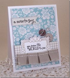 Card by Maureen Plut using Take Note and On Occasion from Verve Stamps.  #vervestamps