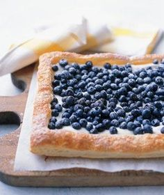 Easy to make, this tart bursts with the taste of fresh blueberries. | Plan your family menu, from appetizers to desserts, with kid-friendly recipes.