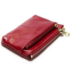 Cheap oil wax, Buy Quality mini wallet directly from China women mini wallet Suppliers: New TAUREN High Quality Genuine Leather Women Mini Wallet Oil Wax Leather Coin Purse Coin Credit Card Holder With Metal Ring Mini Wallet, Small Wallet, Leather Purses, Leather Bag, Cow Leather, Leather Wallets, Sac Vanessa Bruno, Bag Women, Branded Wallets