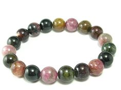 "Watermelon Bicolor Tourmaline Bracelet From Brazil - 7"" -- Details can be found by clicking on the image."