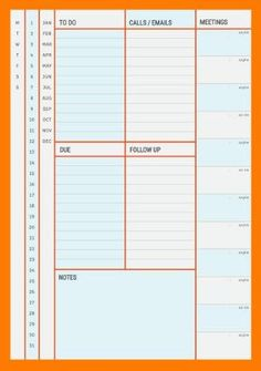 Multi Color Complete Daily Planner Template Customizable And