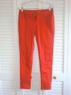 Women's The Limited Red Skinny Jeans SZ 4 EUC #TheLimited #SlimSkinny