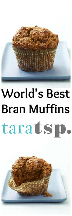 """Once you taste these, you'll call them by no other name than """"World's Best Bran Muffins."""" You will want to eat them for breakfast, lunch and dinner!"""