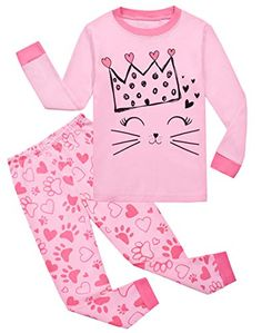They're comfortable and have an adorable print. MORE different colors and size+++ sets +++Garsumiss Little Girls Sleepwear Pink Pajamas Cotton Kids. Girls Sleepwear, Sleepwear Sets, Girls Pajamas, Toddler Christmas, Cotton Pyjamas, Little Girl Outfits, Pajama Set, Toddler Girl, Clothes