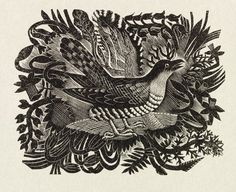 'Spring' by Eric Ravilious from the prospectus of The Cornhill Magazine, 1935 (Wood engraving) Linocut Prints, Art Prints, Block Prints, Tinta China, Scratchboard, Wood Engraving, Woodblock Print, Graphic Illustration, Nature Illustration