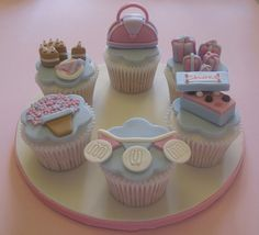 cupcake idea for mother's day or for mom's birthday... by Vintage House Bakery, via Flickr...lovely!