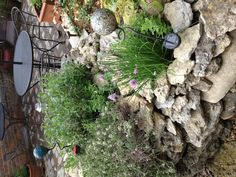 Stone encased flower pots #diy