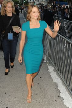 Get it,  Jodie Foster. That color is astounding on you.