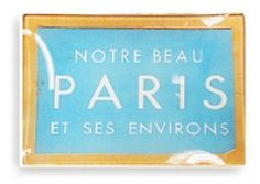 Vintage Paris Ticket Glass Tray from Ben's Garden in my hometown, Oyster Bay