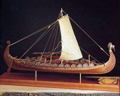 What a beautiful Drekar ship model!