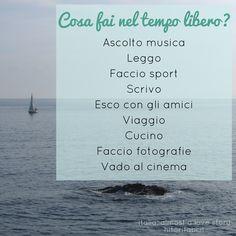 Cosa fai nel tempo libero? Parlare italiano | Imparare l'italiano | Study Italian | Learn Italian | Life in Italy