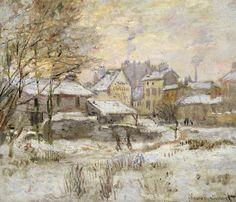 Claude Monet -  Effet de neige, soleil couchant (1875)