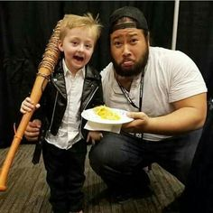 Cooper Andrews with a mini Negan, and probably some cobbler.