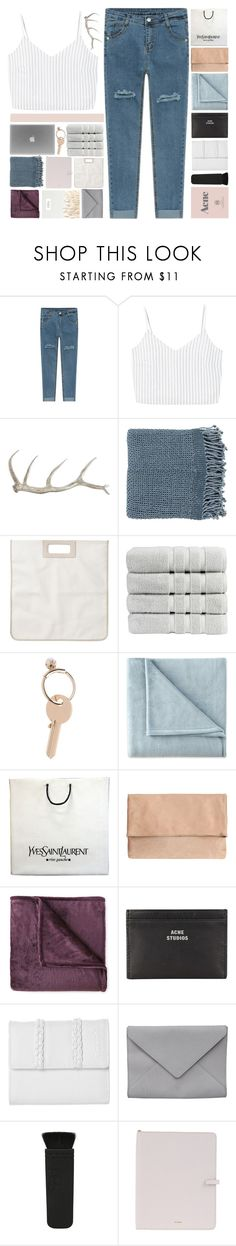 """""""E L E N O R E // TESTING TAGLIST"""" by cashmer-e ❤ liked on Polyvore featuring MANGO, Arteriors, Surya, Monki, Christy, Maison Margiela, JCPenney Home, Yves Saint Laurent, Acne Studios and Bench"""