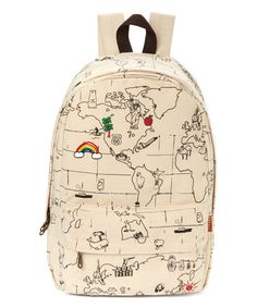 World map backpack map rucksack mint bag unisex backpacks look what i found on zulily carrot white world map backpack by carrot gumiabroncs Gallery
