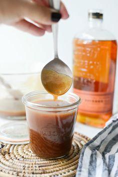 The Best Bourbon Salted Caramel Sauce – Simply Scratch – Didi-Xana Stuff Bourbon Caramel Sauce, Caramel Pecan, Bourbon Glaze, Dessert Sauces, Desserts, Best Bourbons, Ice Cream Toppings, Caramel Recipes, Sweet Recipes