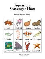 Aquarium Scavenger Hunt {printable}