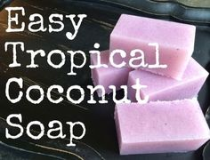 Hey friends!Here's an easy soap recipe that will leave your skin feeling silky and smooth. It's packed with coconut oil and vitamin E (both totally awesome for the skin) and smells like a tropical pool drink (you know, the ones with the tiny umbrellas!).It's so easy to make and will really make a splash in your shower!Grab your supplies and try it for yourself! :) You'll need:6 cups MP Soap Base(I had suspension base on