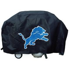 NFL Detroit Lions 68 Inch Vinyl Economy Gas / Charcoal Grill Cover