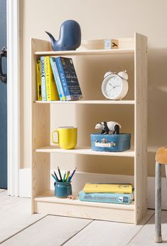 Organise your little ones room with the new Haas bookshelf. This handy design only has three shelves so your children can reach all of their favourite things! #shelving #storageideas #kidsbedroom #kidsstorage 3 Shelf Bookcase, Bookshelves, Kids Storage, Storage Spaces, Bedroom Storage, Your Child, Kids Bedroom, Living Room Furniture, Playroom