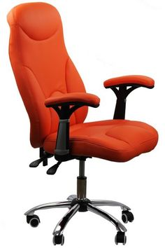 Scaun de birou ergonomic portocaliu Minimalism, Chair, Metal, Furniture, Home Decor, Modern, Recliner, Home Furnishings, Stool