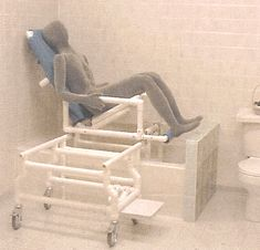 Tilt-In-Space Slider Bath Chair/Shower Chair