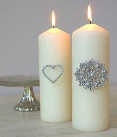 Diamante Candle Pins