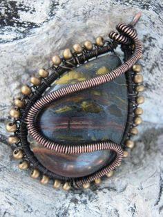 Tiger eye with copper