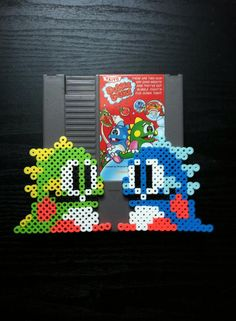 Bub and Bob - Bubble Bobble perler beads by 8bitsofawesome on deviantART