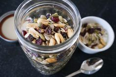 a granola alternative i love - a simple trail mix of seeds, nuts and dried fruit (great for the gluten free too)
