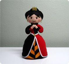 Rainha de Copas - Tema Alice em Feltro | Nina e Mone | 367411 - Elo7