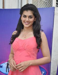 Taapsee Pannu In Pink Top