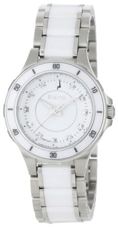 Bulova Women's 98P124 Substantial Ceramic and Stainless-Steel Construction Watch: Watches: Amazon.com $161.05