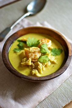 Sopa de coco, pescado y marisco, Tom Kha Talay, receta tailandesa con Thermomix « Thermomix en el mundo