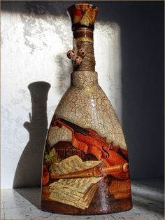 Декупаж, кракелюр: бутылки - Matou Mauvais - Веб-альбомы Picasa