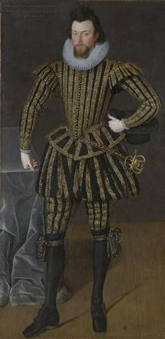 Mens fashion 16th Century England - Portrait of Sir John Scott