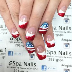 We've rounded up some of our favorite and easy of July nail art ideas, so your nails will get more attention than the fireworks! July 4th Nails Designs, 4th Of July Nails, Holiday Nail Art, Christmas Nail Art Designs, Firework Nails, Usa Nails, Patriotic Nails, Seasonal Nails, Finger Nail Art