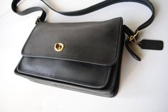 Authentic Coach vintage 80s charcoal black genuine by VezaVe