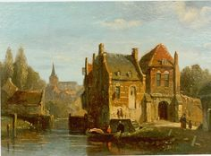 Adrianus Eversen (Amsterdam 1818-1897 Delft) Village life - Dutch Art Gallery Simonis and Buunk Ede, Netherlands.