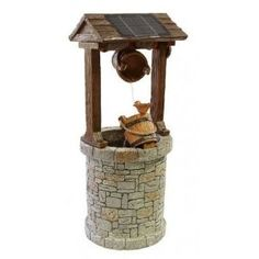 Ambiente Solar Powered Wishing Well Water Feature:
