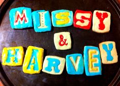 A first attempt at using our Letterpress Cookie set.