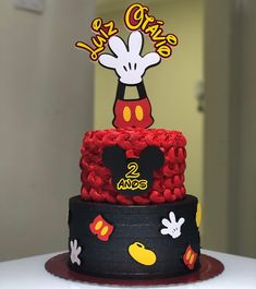 Mickey Mouse Birthday Decorations, Mickey Mouse Clubhouse Birthday, Mickey Birthday, Mickey Party, Birthday Kids, Bolo Mickey Baby, Minnie Y Mickey Mouse, Fiesta Mickey Mouse, Minnie Mouse Cake Topper