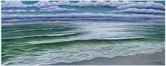 "Coastal Calm  Painting, Original Oil on Canvas, 30.0""h x 75.0""w  $3800"