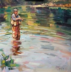 Flyfishing by Mary Maxam.  Love the water in this one... http://www.amazon.com/The-Reverse-Commute-ebook/dp/B009V544VQ/ref=tmm_kin_title_0