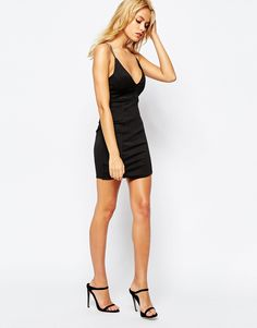 Boohoo Strappy Cross Back Bodycon Dress