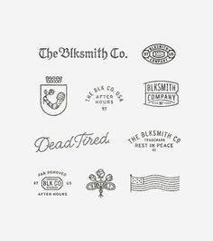 My personal work was always meant to be a place to trust my gut and test shit out. Seeing if I can make too many generic logos work under one roof. by theblksmith Logo Inspiration, Typographie Logo, Badge Design, Lettering, Photo Instagram, Identity Design, Brand Identity, Logo Branding, Web Design