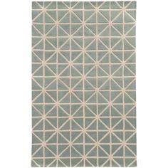 Optic Grey Ivory Geometric Rug #GeometricRugs