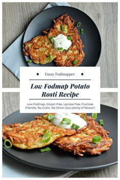 Low Fodmap Potato Rosti Recipe by Fussy Fodmapper. Low fodmap gluten free lact Low Fodmap Potato Rosti Recipe by Fussy Fodmapper. Low fodmap gluten free lactose free fructose friendly no garlic no onion. Source by twocametrue Fodmap Recipes, Diet Recipes, Healthy Recipes, Cookie Recipes, Potato Rosti Recipe, Fructose Free Recipes, Fodmap Breakfast, Sin Gluten, Lactose Free